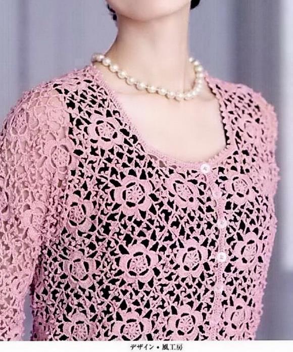 Crochet Sweaters: Crochet Lace Sweater Pattern - Elegant