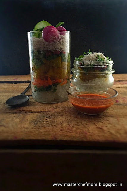 Sabudana Khichdi Salad In A Jar | Sago Salad In A Jar