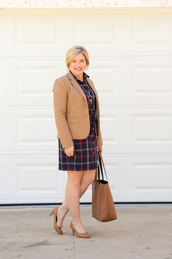how to wear plaid to the office