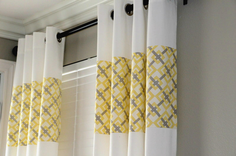yellow and gray curtains g ikea curtains upcycled 29429