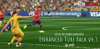 Enhanced Turf Pack v4.3 Final For PES2019 by Endo