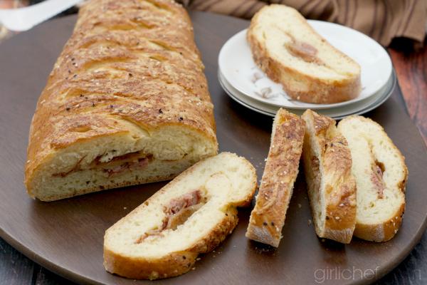 Havarti Ham Apple Braid #bread | allroadsleadtothe.kitchen