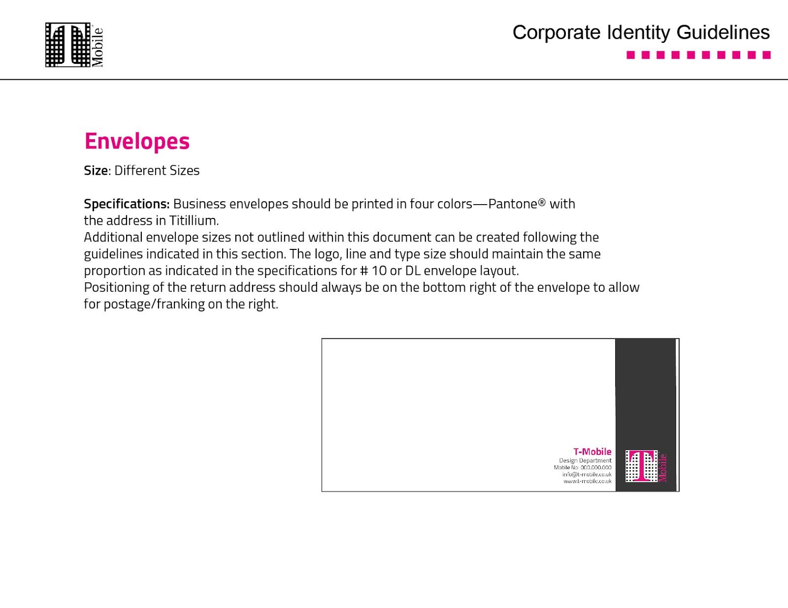 T-Mobile Corporate Identity | 01010011PortfolioLab