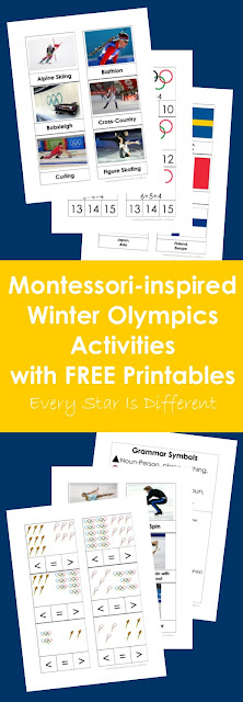 Montessori-inspired Winter Olympics Activities and Free Printables