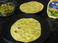 Vegetable Chapati roll 14