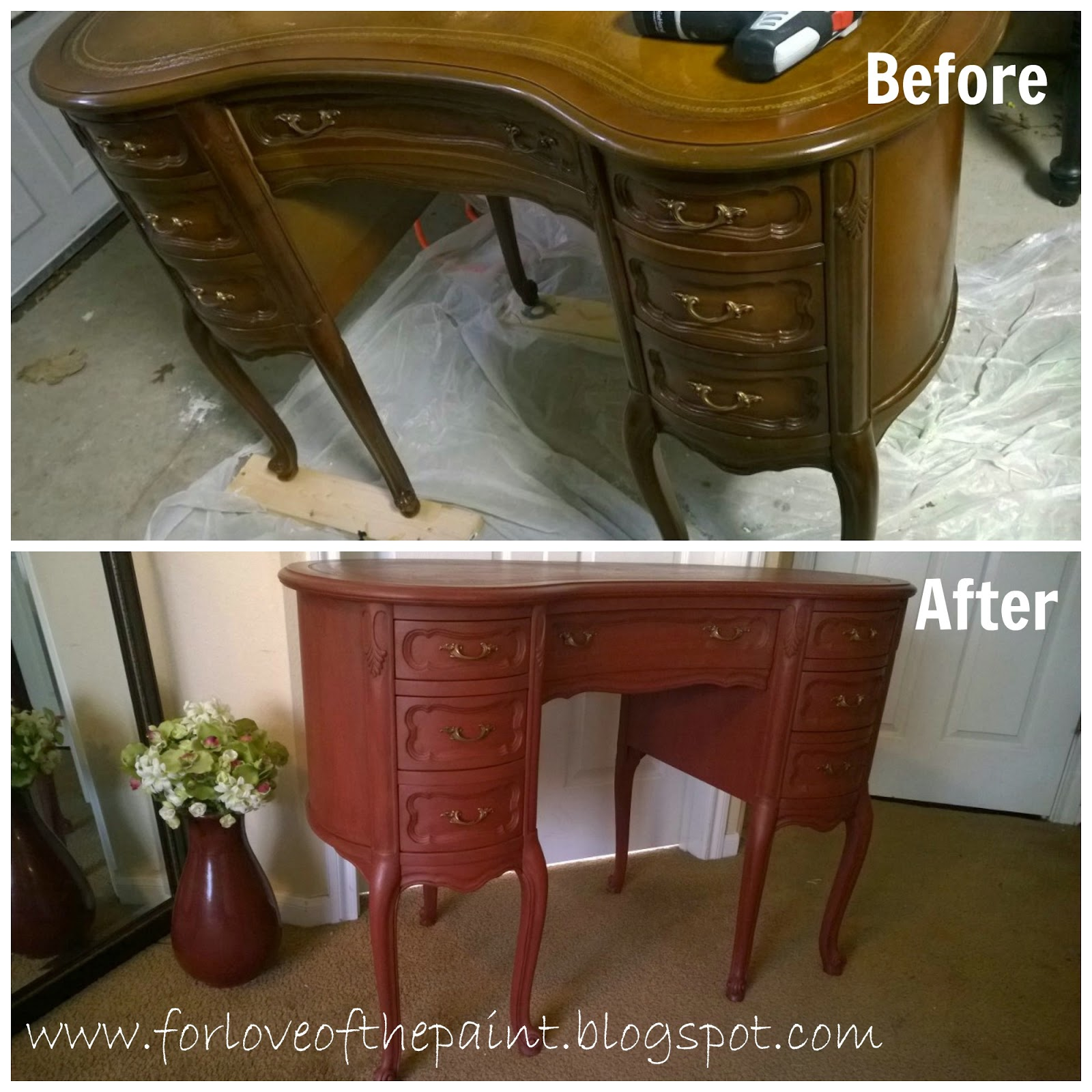 antique kidney shaped desk For Love of the Paint: Before and After : Antique Kidney Shaped Desk antique kidney shaped desk