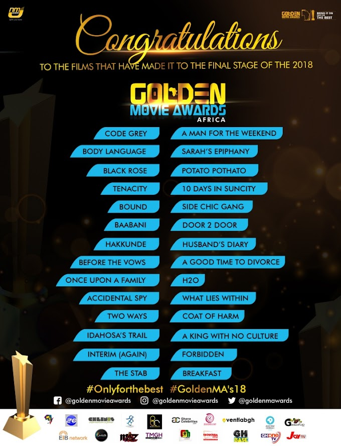 Golden Movie Awards Africa announces films for final selection