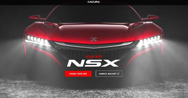 自分だけのNSXが作れる!アキュラが新型NSXのコンフィギュレーターを公開!