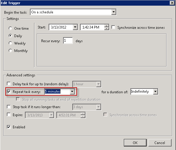Run this Scheduled Task every minute !!! - LazyWinAdmin