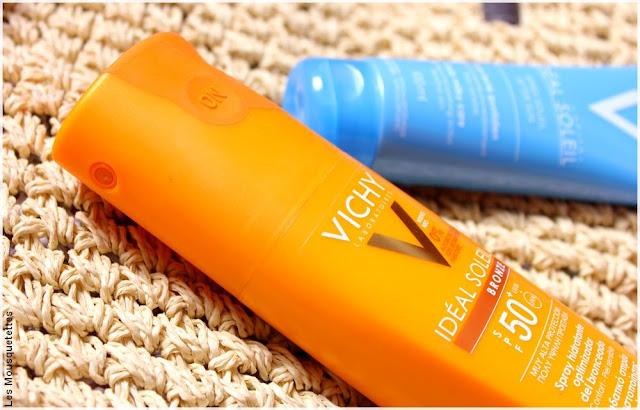 Spray SPF 50 Idéal Soleil des Laboratoires Vichy - Blog beauté