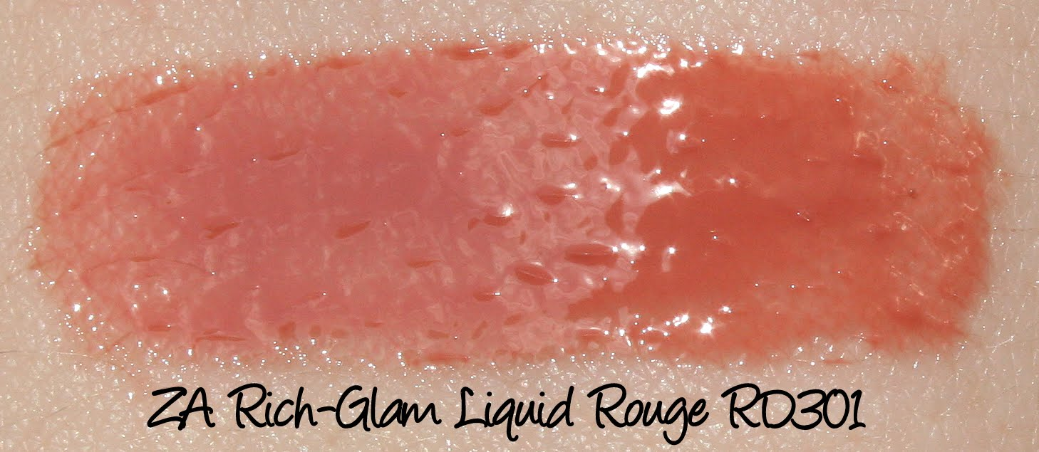 ZA Rich-Glam Liquid Rouge - RD301 Swatches & Review