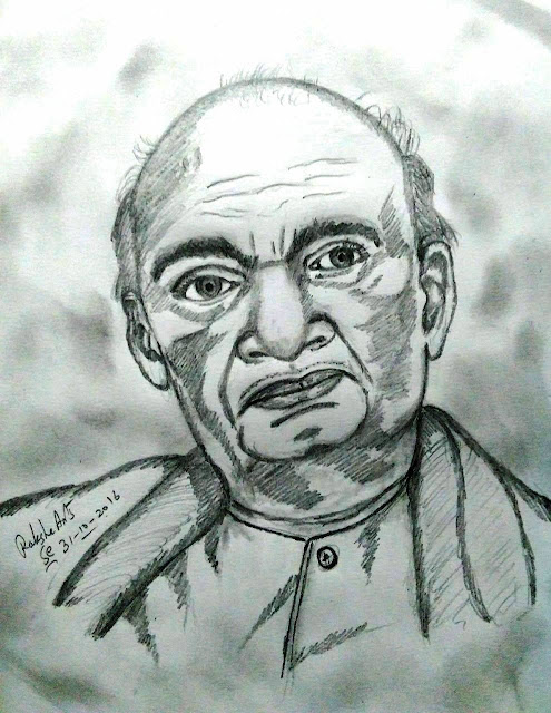 PENCIL DRAWING - Sardar Vallabhbhai Patel