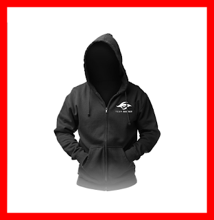 Hoodie Team Secret black - Jaket Baju Jumper Gaming