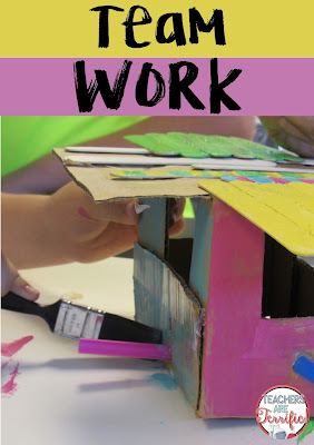 STEM: Make sure students know what team work looks like. Spend a lot of time in the beginning of the school year completing team building activities and talking about what it means to share the work load, make collaborative decisions, and do what is best for the team. Read more on this blog post about best practices!