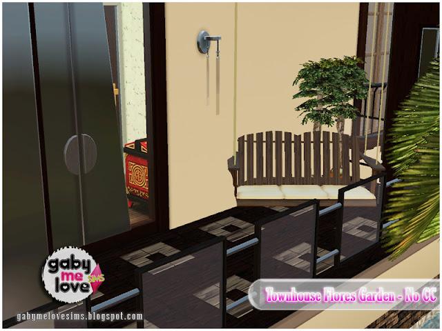 Townhouse Flores Garden |NO CC| ~ Lote Residencial, Sims 3. Balcón.