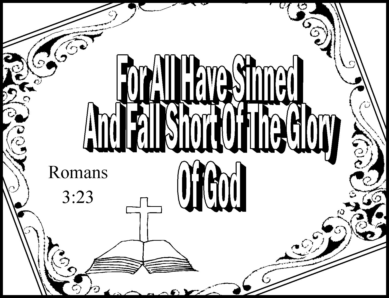 Children's Gems In My Treasure Box: Romans Road Coloring