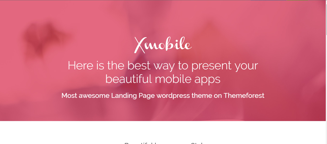 Wordpress themes for Mobile Apps