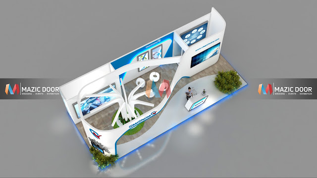 9m by 3m Exhibition stall Design 5