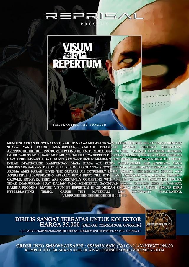 VISUM ET REPERTUM - Malpractice the Surgeon ' CD MASIH TERSEDIA SANGAT TERBATAS !!!