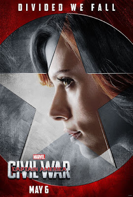 "Captain America Civil War ""Team Iron Man"" Character Movie Poster Set - Scarlett Johansson as Black Widow"