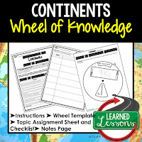 Continents Activity, World Geography Activity, World Geography Interactive Notebook, World Geography Wheel of Knowledge (Interactive Notebook)