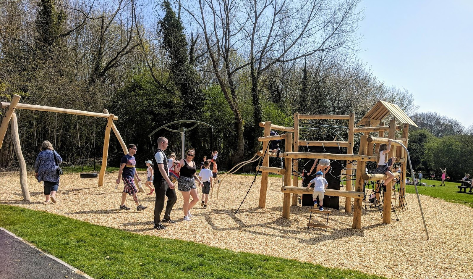 Plessey Woods Art Trail & New Play Park  - swings