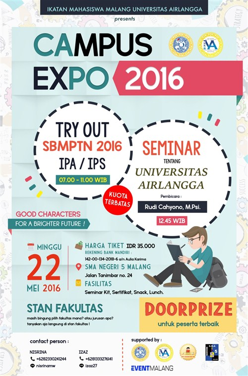 Campus Expo 2016 di SMAN 5 Malang bulan Mei