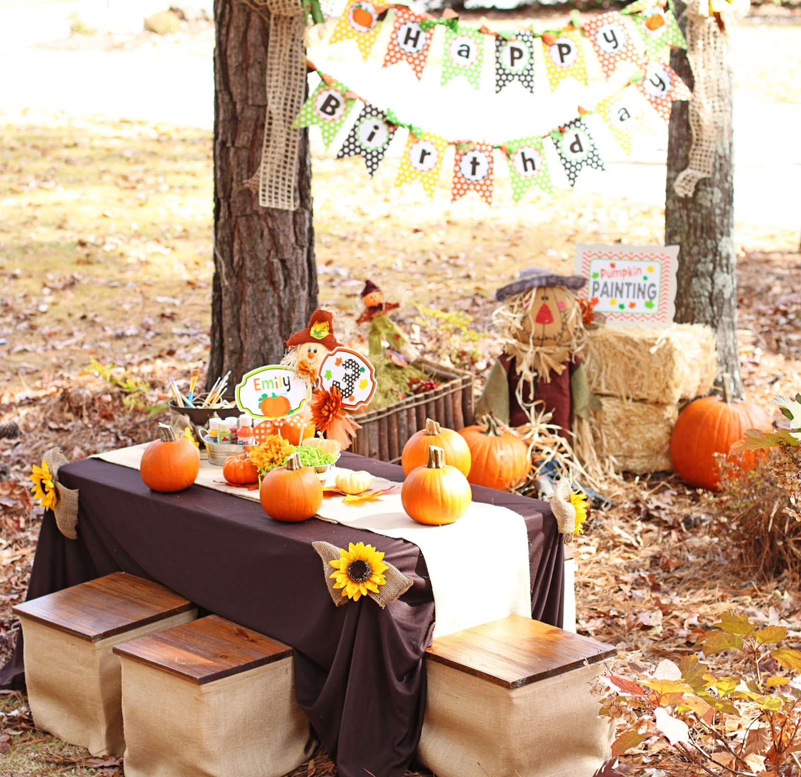Fall themed birthday party
