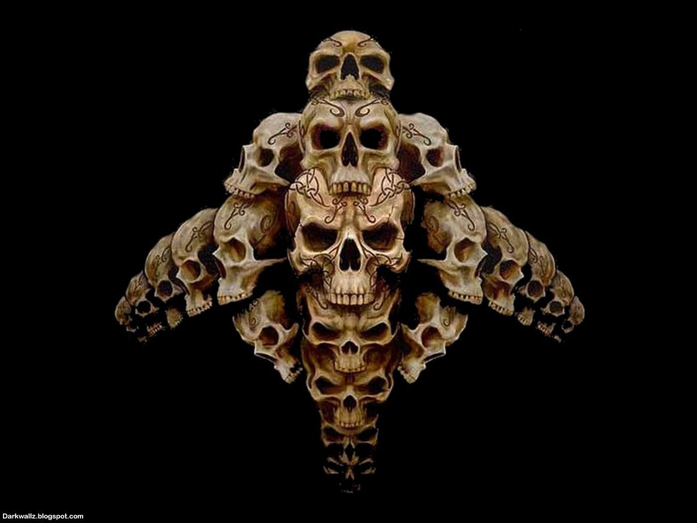 Scary wallpapers - Scary skull backgrounds ...