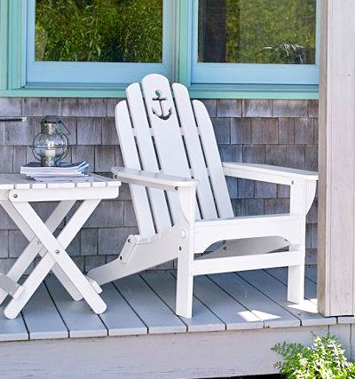 Wood Adirondack Chair with Cutout