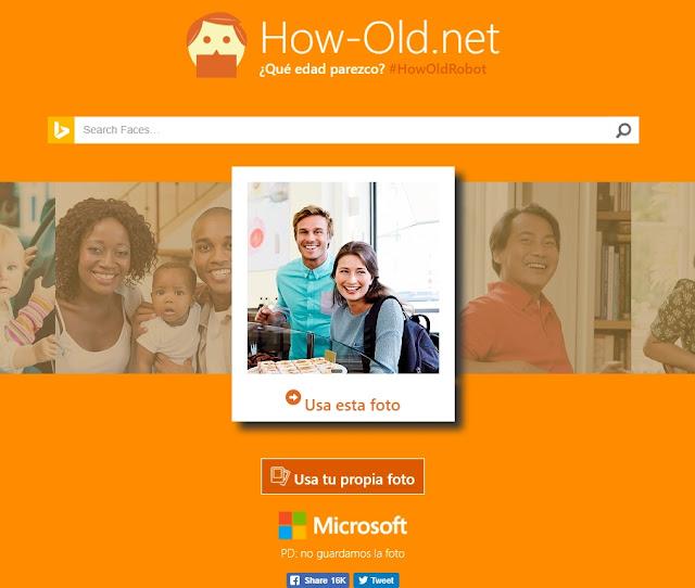pagina que mediante una foto te indica tu edad aproximada