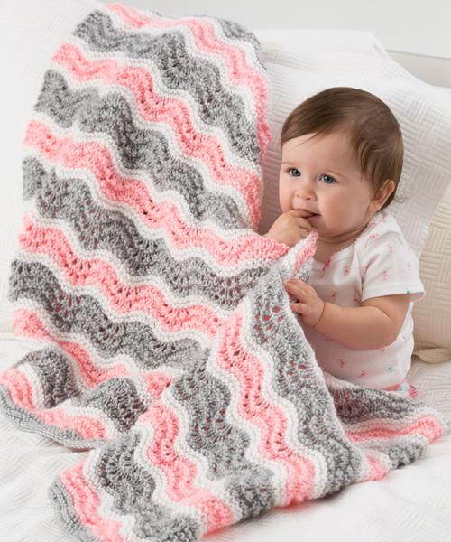 Baby Girl Chevron Blanket - Free Pattern