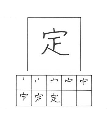 kanji menentukan