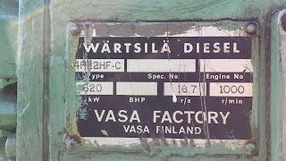 Wartsila VASA, used Wartsila, second hand, Hz, RPM