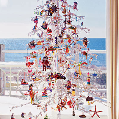 white Christmas tree Coastal Living