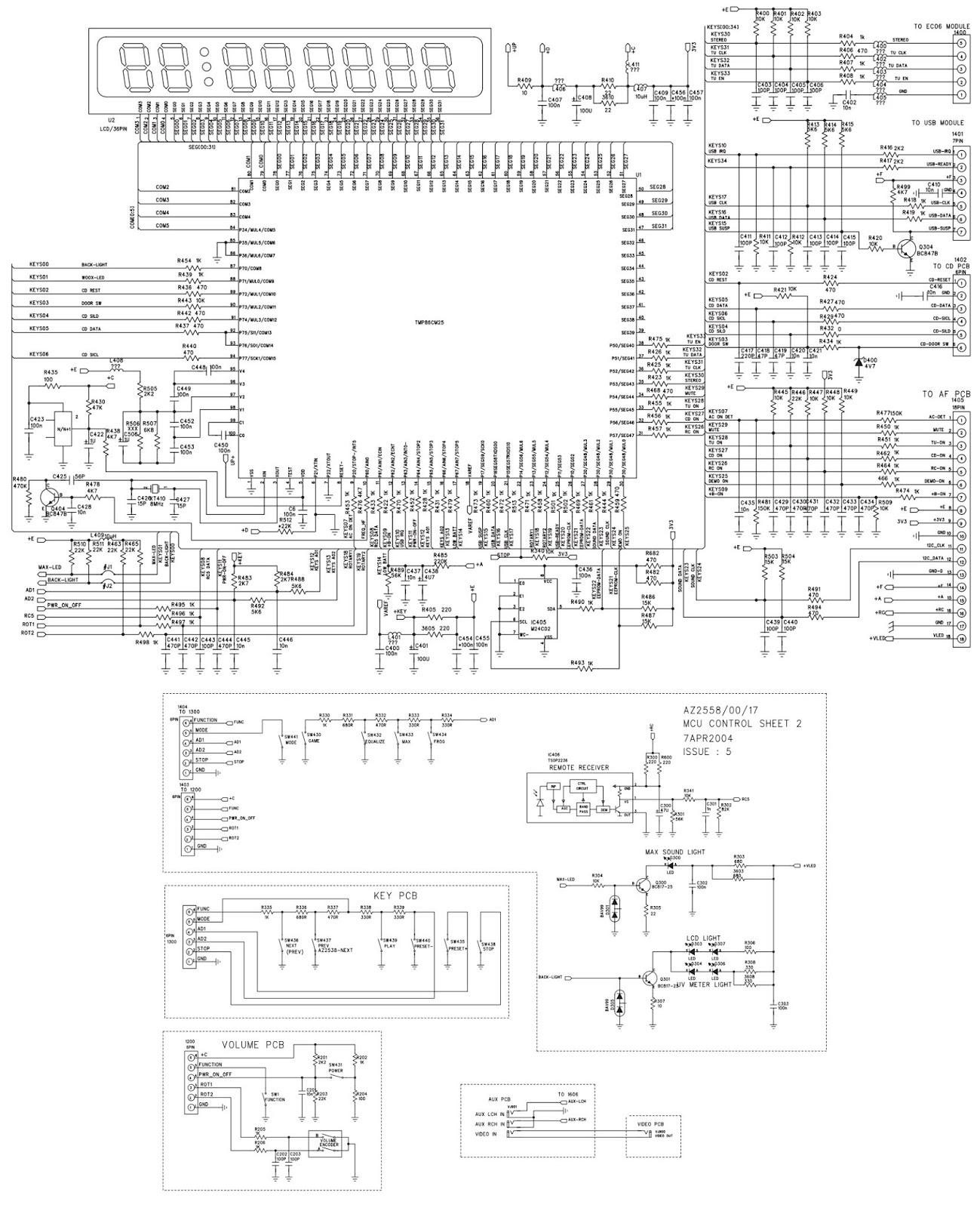 electronic inspirations  philips az2538  u2013 schematic