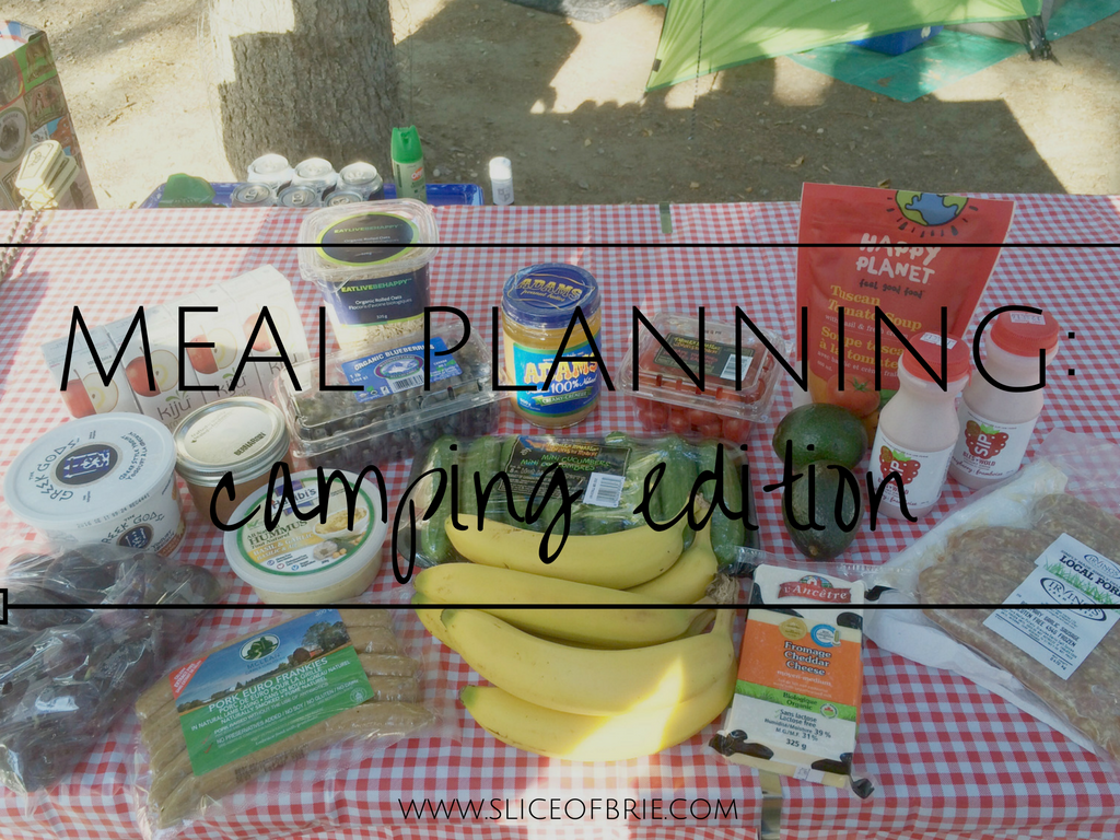 A Slice Of Brie Meal Planning Camping Edition