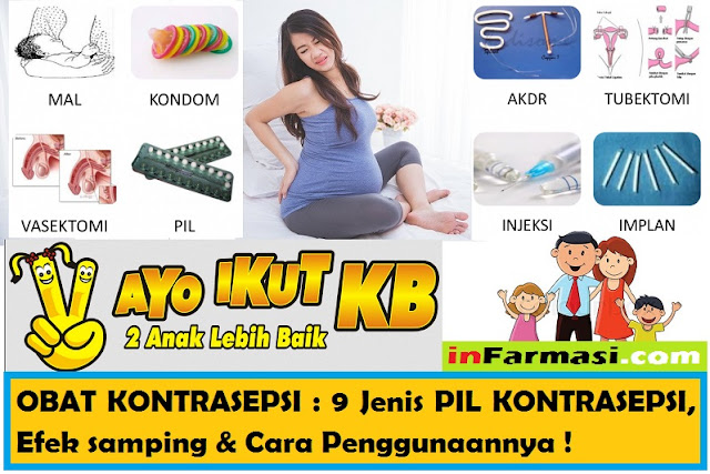 Jenis kontrasepsi untuk mencegah kehamilan
