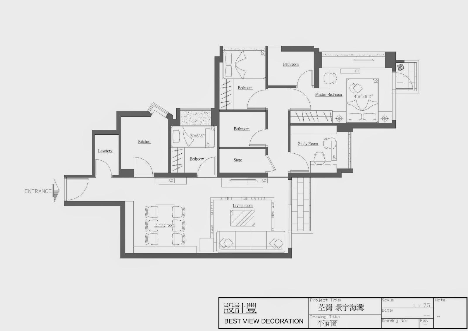 環宇海灣Citypoint室內設計平面圖