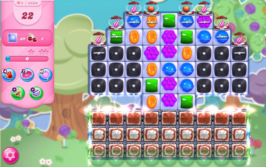 Candy Crush Saga level 6586