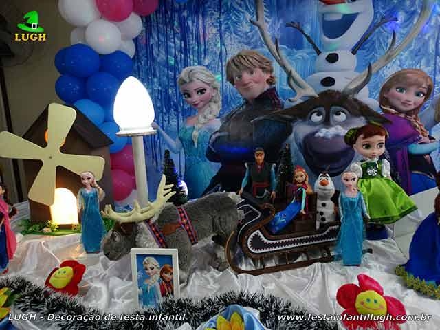 Decoração de aniversário infantil Frozen
