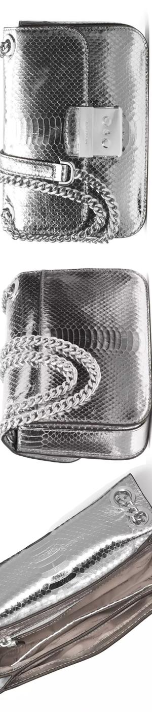 MICHAEL Michael Kors Sloan Editor Medium Snake-Embossed Shoulder Bag