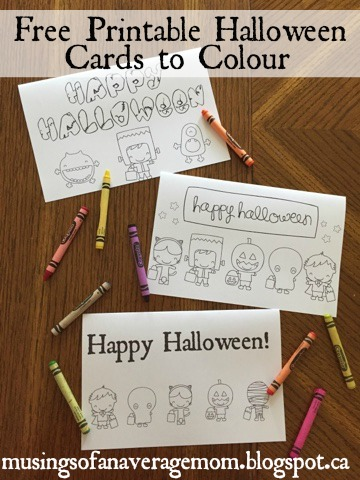 Musings of an Average Mom: Free Halloween Cards to Color