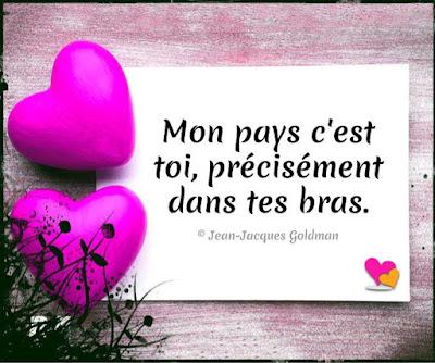 magnifique message d'amour