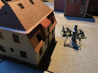 The Germans take heavy losses and are destroyed