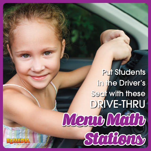 Drive-Thru Menu Math Stations | Remedia Publications
