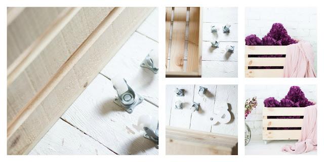 Caja madera ruedas