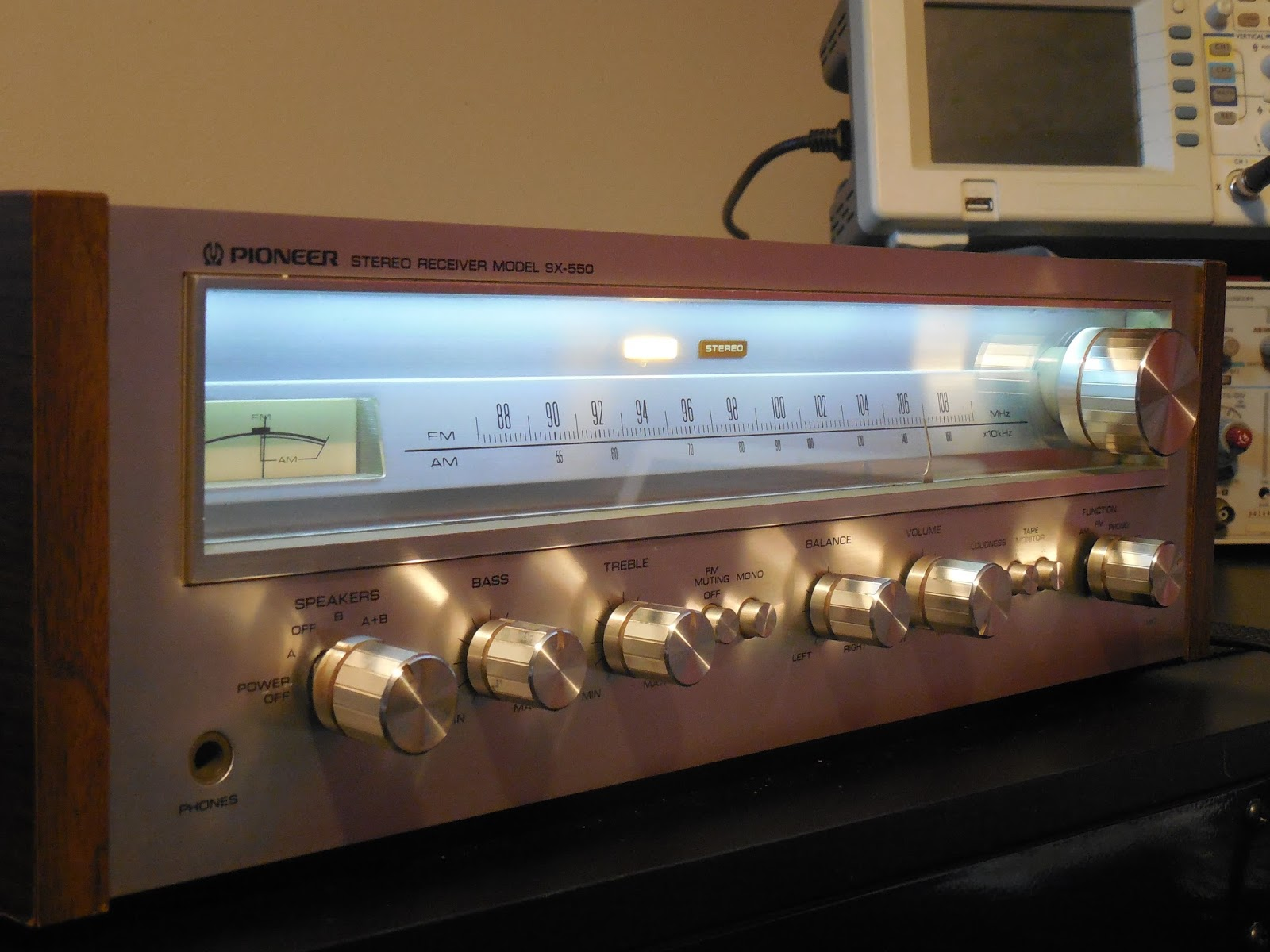 Vintage Hi Fi Audio Restorations Pioneer Sx 550 Receiver