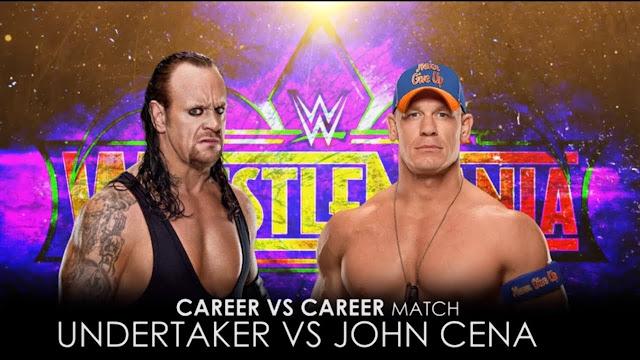 The Undertaker vs John Cena as Career vs Career Match at Wrestlemania 34