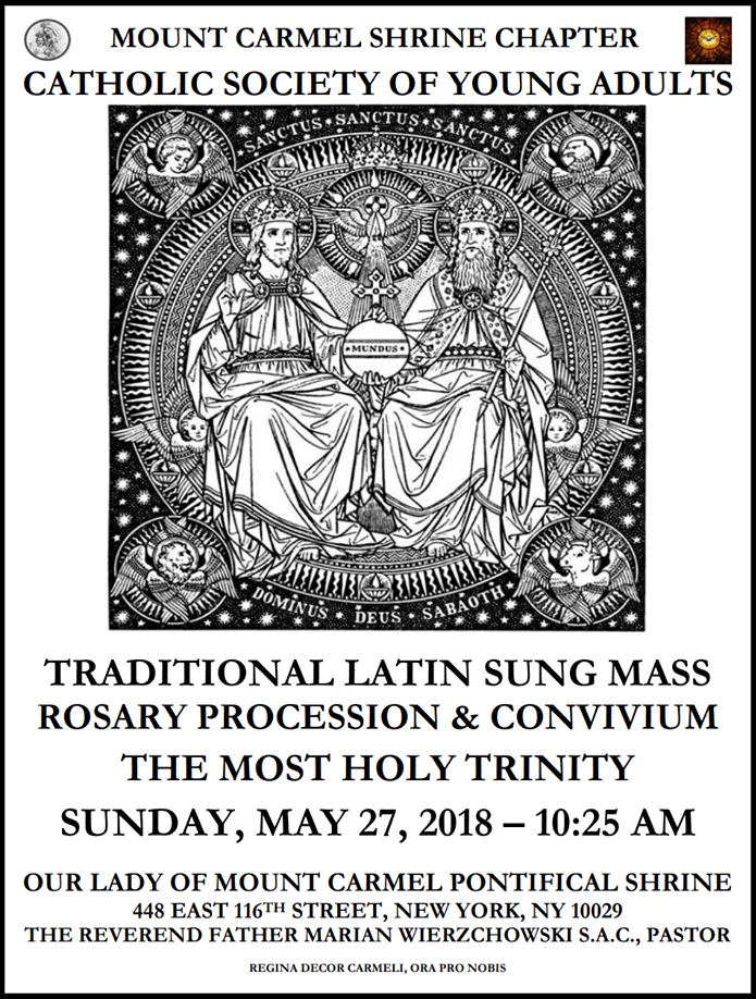 Il Regno: Young Adults Latin Mass & Rosary Procession